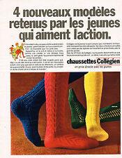 PUBLICITE ADVERTISING 034   1969   COLLEGIEN    chaussettes