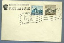 ITALIA BUSTA First Day Cover 1954 FDC PATTI LATERANENSI ANNULLO SPECIALE FAENZA
