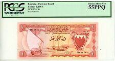 Bahrain ... P-4a ... 1 Dinar ... L.1964 ... *AU-UNC* ... PCGS 55 PPQ