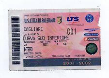 36151 Biglietto stadio - Palermo Cagliari - La Favorita - Serie B 2001/02