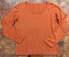 Donna 100/% CASHMERE LUSSO leggero poncho arancione bruciato realizzato a mano in Nepal