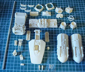 Star Wars 1/48 Resin Y-Wing from Alfred Wong OOP Complete!