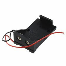 2 Pezzi In Plastica Nera 9V Cells Battery Holder Caso Box W Cavi Cablati U1I4