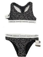 Calvin Klein Women Underwear S Bra & Brief Set-100% Cotton CK Bralette Knickers