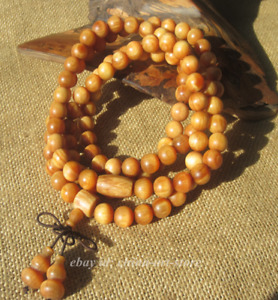 Fine Chinese Amber Wood Translucent Red Pinewood Grinding Buddha Beads Bracelet