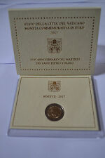 Coffret Vatican 2017 2euro com- 1950ème anni du martyr de Saint Pierre et Paul