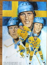 1976 Canada Cup Team Sweden Poster, Salming and Co.