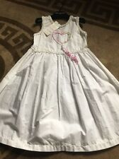 Beautiful Little Girls Dress Age 4 Crust White Cotton By Joseph Italy 🇮🇹