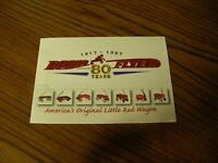 4216) Radio Flyer Red Wagon Through The Years 80 Years 1917-1997 Brochure