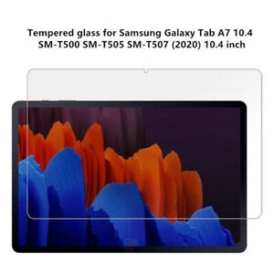 2 Pack For Samsung Galaxy Tab A7 10.4 Tempered Glass Screen Protector T500/T505
