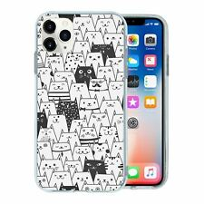 For Apple iPhone 11 PRO Silicone Case Cat Pattern - S230