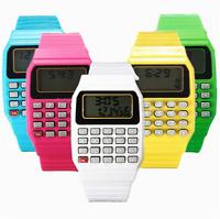 Unisex Multi-Purpose Date Time Electronic Wrist Calculator Watch Kids Child Gift