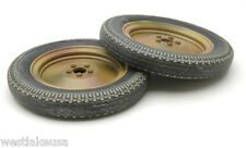 """WWII Nebelwerfer Pair of Wheel 1/6th Scale for 12"""" Action Figure by DID"""