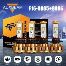 AUXBEAM 9005+9006 Combo LED Headlights Bulbs Kit 60W AUTO Super Bright 6000K F16