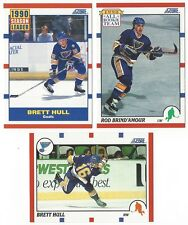 14 1990-91 SCORE HOCKEY ST. LOUIS BLUES CARDS (HULL/BRIND'AMOUR+++)