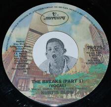 "Rap 45~KURTIS BLOW~The Breaks Part 1 & 2 ~Mercury 7"""