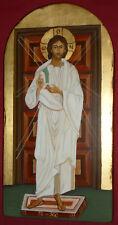 GESU' MISERICORDIOSO icona sacra dipinta a mano su vecchio legno massello