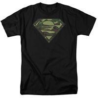 Superman Camo Logo T-Shirt DC Comics Sizes S-3X NEW