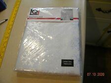 OVAL Tablecloth 60 x 84  Snowflake white/ silver polyester/metalic