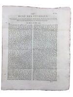 Rare Journal Révolution Française 1792 L'Echo des Journaux Loire Le Puy Louis 16