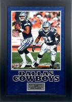 Dak Prescott & Ezekiel Elliott Signed Dallas Cowboys 16x20 Photo Framed Beckett