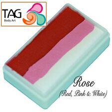 TAG Body Art One Stroke Professional Face Paint Cake (30g) ~ Rose