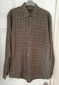 James Pringle Green Checked Long Sleeve Shirt Size M EWM