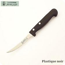 """Couteau à tomate """"LA FOURMI"""" Manche noir"""