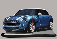 voiture miniature AUSTIN COOPER BLEU en horloge , austin-16