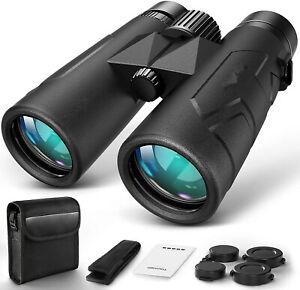 10x42 Compact Binoculars Adults Durable Full-Size Clear Binoculars, Lightweight