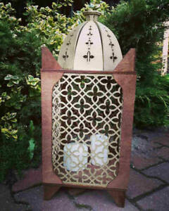 Big wooden arabic style lantern for candles