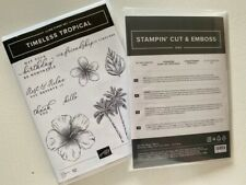 Stampin Up TIMELESS TROPICAL BUNDLE stamps and dies hibiscus palm tree pineapple