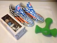 Adidas Messi F10 World Cup Indoor Soccer Shoes 10.5, Bobble Head, 3lb Weights