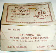 In-Line Motor Mount Bracket for DC85A PITTMAN Original 1960 SLOT CAR NOS #BR-B75