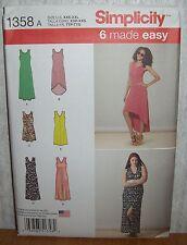 Womens/Misses Variable Length Dress Sewing Pattern/Simplicity 1358/SZ XXS-XXL/N