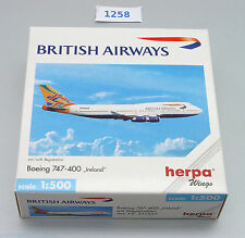 Herpa Boeing 747-400 British Airways Ireland  Nr: 511537 1:500 !! RARITÄT !!