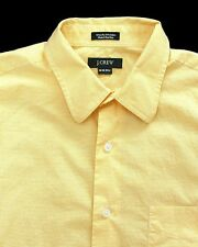 J.Crew Yellow/White Checked Button Front Shirt-Mens-Sz M  15-15 1/2