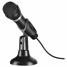 Mini 3.5mm Jack Flexible Microphone Portable Mini Mic for PC Laptop (Stand+Mic)
