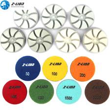 7Pcs Dry Diamond Floor Polishing Pads 3'' Resin Grinding Disc for Concrete Stone