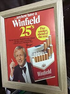 1970's Winfield Cigarettes Magazine Advertisement - Framed