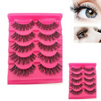10 Pairs 100% MINK Classic Eyelashes Lashes WISPY Medium Real Natural Volume Hot
