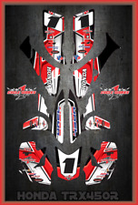 TRX 450R graphics sticker kit for Honda Quad SEMI CUSTOM GRAPHICS  SLASHER