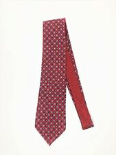 Tommy Hilfiger Geometric Cubes Dots Silk Tie Floral Red White & Blue - USA Made