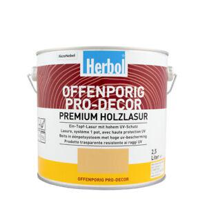 (19,60€/ L)Herbol Offenporig Pro-Decor 2,5L, seidenglänzend versch. Farben