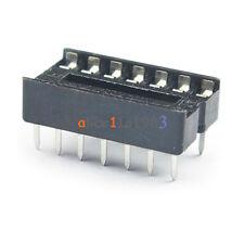 50PCS 14pin DIP IC Socket Adaptor Solder Type Socket Pitch Dual Wipe Contact