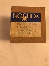 NOSHOK 15.120 PRESSURE GAUGE 15 PSI 1/8 NPT ST ZN CASE -FREE SHIPPING-