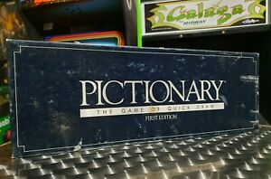 Pictionary The Game Of Quick Draw - Retro Vintage Board Game