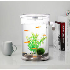 Self Cleaning Aquarium Mini Fun FISH TANK Kit + Led Light Gravity Clean 7983HC