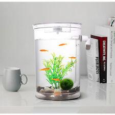 Self Cleaning Aquarium Mini Fun FISH TANK Kit+Led Light Gravity Clean 7983HC