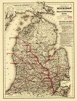 Toledo Ann Arbor and North Michigan Railway - Colton 1886 - 23.00 x 30.17